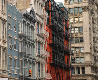 Soho New York. Typical architecture. Historic buildings and cast iron architecture in Soho, New York, USA royalty free stock photos