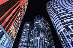 SOHO Sanlitun Office buildings at night, Beijing, China Royalty Free Stock Photo