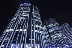 SOHO Sanlitun Office buildings at night, Beijing, China Royalty Free Stock Photography