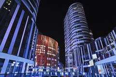 SOHO Sanlitun Office buildings at night, Beijing, China Stock Photography