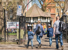 Soho Square. An entrance to Soho Square, London, a popular venue for workers in the area as well as tourists Stock Images