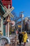 Soho ulic Manhattan punkt?w zwrotnych Miasto Nowy Jork usa fotografia royalty free