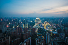 SOHO Wangjing dans Pékin image stock