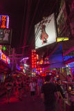 Soi Cowboy street in Bangkok. Soi Cowboy street in, near Nana station, is famous for its night life with go-go bars and animation girls Royalty Free Stock Image