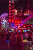 Soi Cowboy street in Bangkok. Soi Cowboy street in, near Nana station, is famous for its night life with go-go bars and animation girls Royalty Free Stock Photography