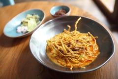 Soi de Khao do macarronete, alimento tailandês imagem de stock
