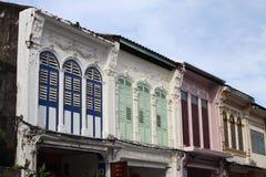 Soi Romanee i den Phuket staden Royaltyfri Foto