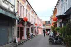 Soi Romanee in Phuket Town Stock Photos