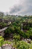 Soi Sawan Waterfall, een mooie waterval in een diep bos Royalty-vrije Stock Fotografie