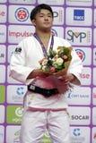 Soichi Hashimoto, Ιαπωνία με το χρυσό μετάλλιο των παγκόσμιων κυρίων 2017 τζούντου Στοκ Φωτογραφίες