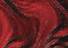 Soie étoilée rouge Images libres de droits