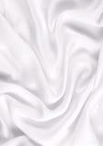 Soie blanche élégante lisse Photographie stock