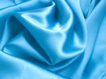 Soie bleue Image libre de droits