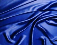 Soie bleue Photographie stock
