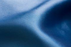 Soie bleue sensuelle Images libres de droits