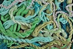 Soie colorée de broderie comme texture de fond Image stock