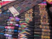 Soie colorée de Mhong Photographie stock
