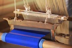 Soie d'armure de phone d'interdiction de Praewa, ver à soie dans Kalasin, Thaïlande Image stock