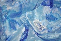 soie de bleu de fond Images stock