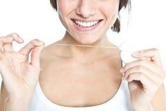 Soie dentaire Image libre de droits