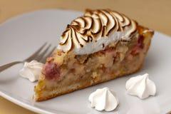Soie fraîche de sucrerie de wirh de gâteau de rhubarbe Photos stock