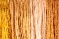 Soie jaune et brune Photo stock
