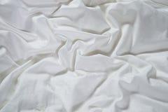 Soie modelée par blanc Photo libre de droits