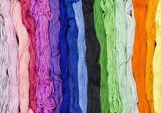 Soie multicolore de broderie Photos libres de droits