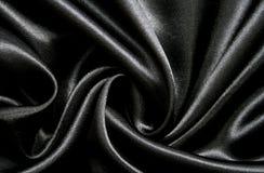 Soie noire élégante lisse comme fond photo libre de droits