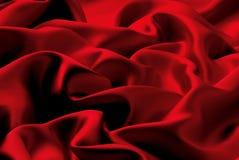 Soie rouge Images libres de droits