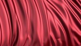 Soie rouge dans le mouvement lent Le tissu se développe sans à-coup dans le vent banque de vidéos