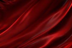 Soie rouge ondulée Images libres de droits
