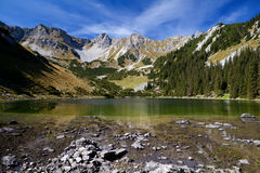 Soiernsee and Schottelkarspitze in Alps Royalty Free Stock Photography