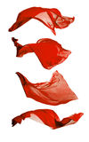 Soies rouges abstraites sur le fond blanc Photographie stock