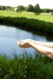 Soif d'été, l'eau Image libre de droits