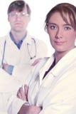 soigne l'équipe sérieuse médicale Image libre de droits