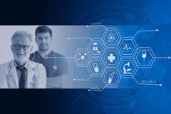 Soignez la conception de graphiques de backgrond de recouvrement de service de soins médicaux d'hospitalier photo libre de droits