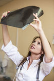 Soignez la femme dans une chambre de jeunes patients dans l'uniforme blanc Image libre de droits