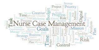 Soignez le nuage de mot de Case Management, fait avec le texte seulement illustration stock