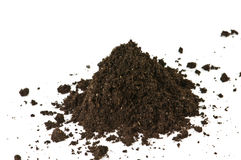 Soil. Heap isolated on white Stock Images