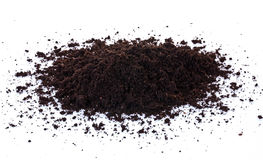 Soil. Pile of black garden top soil isolated on white background Stock Image