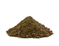 Soil. From land on white background Royalty Free Stock Photos