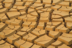 Soil. Field of baked earth after a long drought royalty free stock image