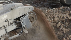 Soil and aggregate screening stock video