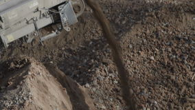 Soil and aggregate screening 2 stock video