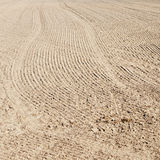 Soil of an agricultural field Royalty Free Stock Photography