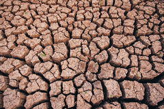 Soil arid , season water shortage Royalty Free Stock Images