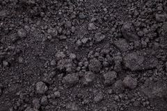 Black soil background. Black soil for Textured Background royalty free stock photography