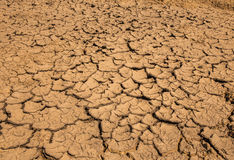 Soil breaking. Beause hot weather Stock Photo