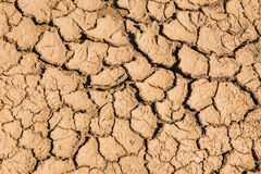 Soil breaking. Because hot weather Stock Images